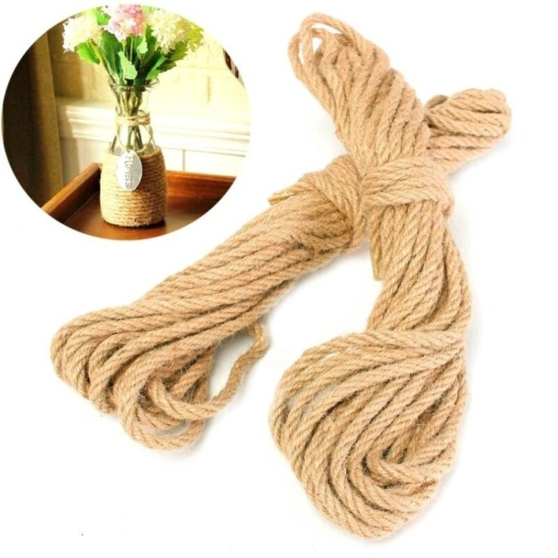 Buy RHS Online 10M Twisted Burlap Jute Twine Rope Thick Natural Hemp Cord Sisal Rope 6mm Malaysia