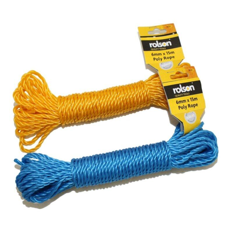 Buy Rolson 44262 Poly Rope 15M x 6mm Malaysia