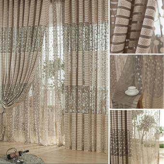 Room Leaf Tulle Door Window Curtain - 2