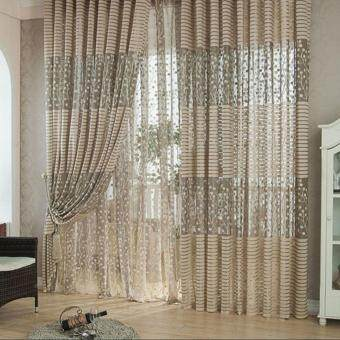 Room Leaf Tulle Door Window Curtain - 4