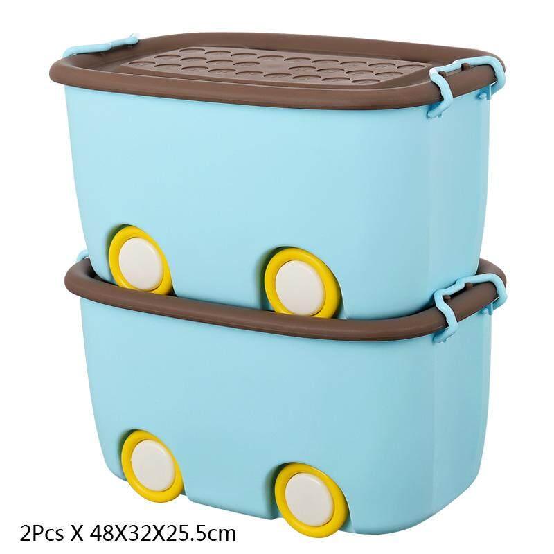RuYiYu   2 Pack,Ultra Latch Box In Fun Colors, Kids Toy Organizer And