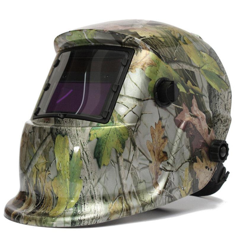 S & F Adjustable Auto Darkening Solar Welding Helmet ARC TIG MIG Weld Lens (Green)