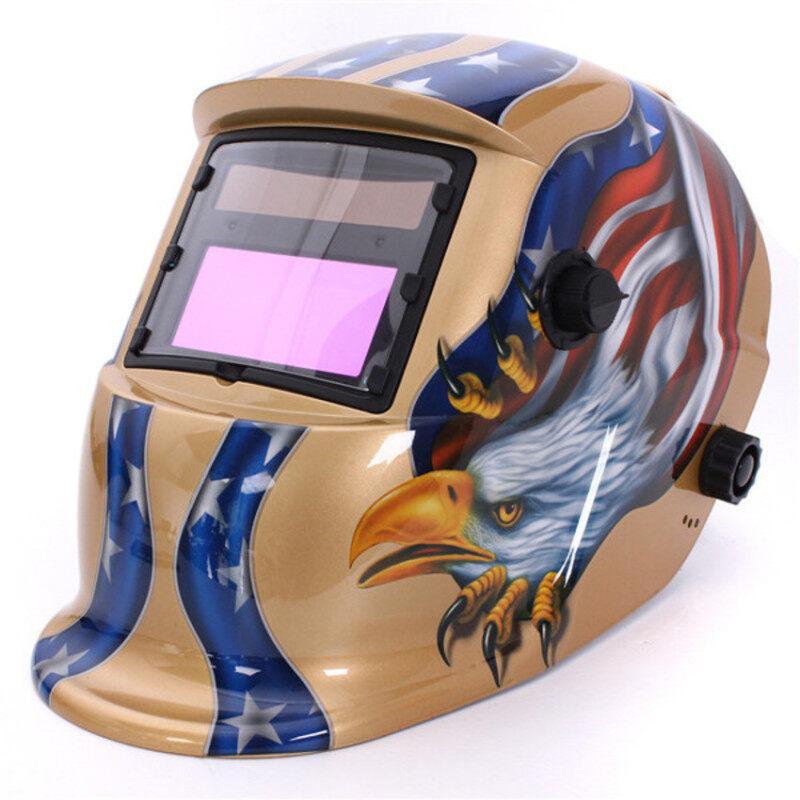S & F Solar Auto Darkening Welding Helmet Arc Tig Mig Grinding Mask for Welders (Gold)
