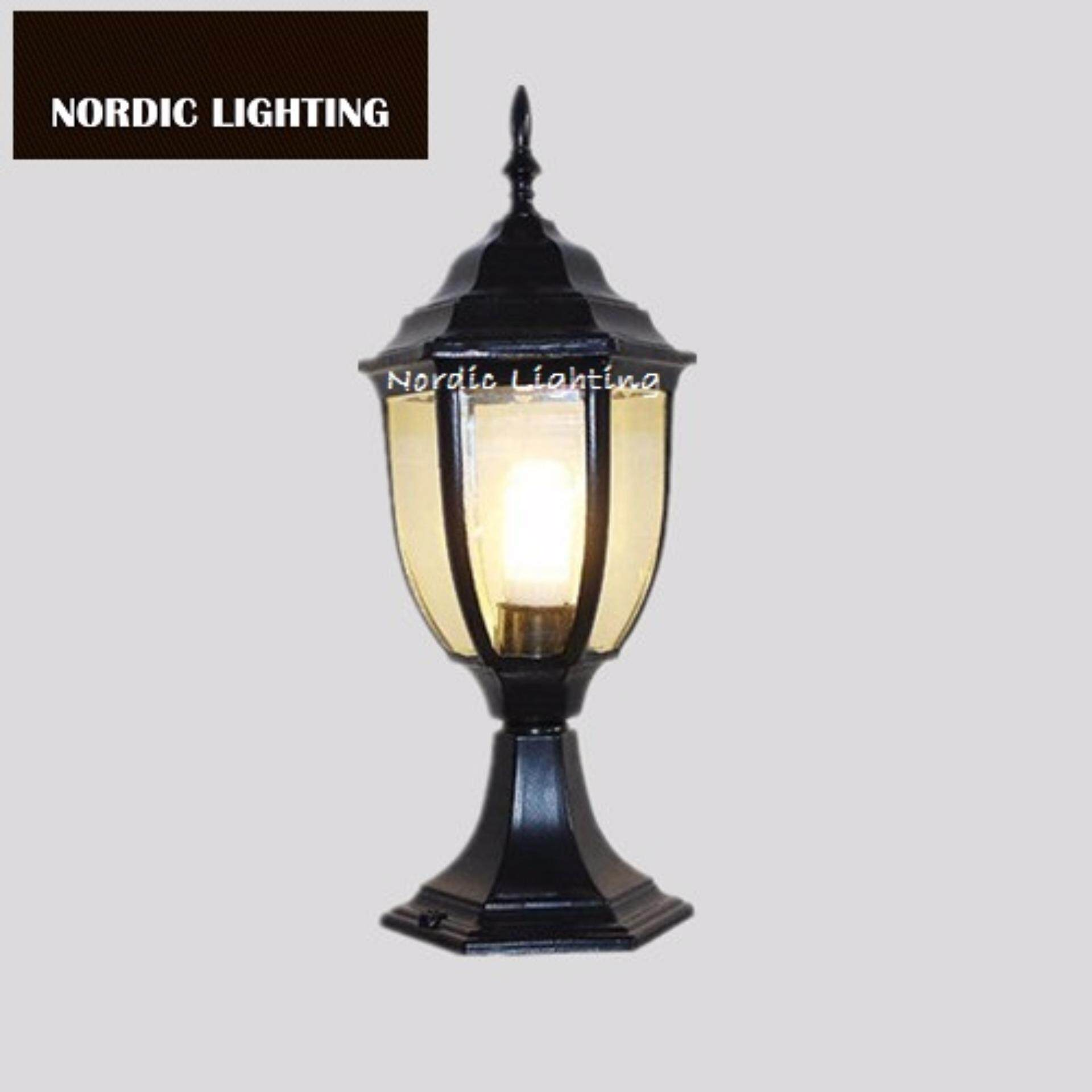 nordic simple orb clear glass pendant lighting. Nordic Lighting. Buy S Size Black Industrial Outdoor Gate Light Lighting Best Seller Pillar Simple Orb Clear Glass Pendant