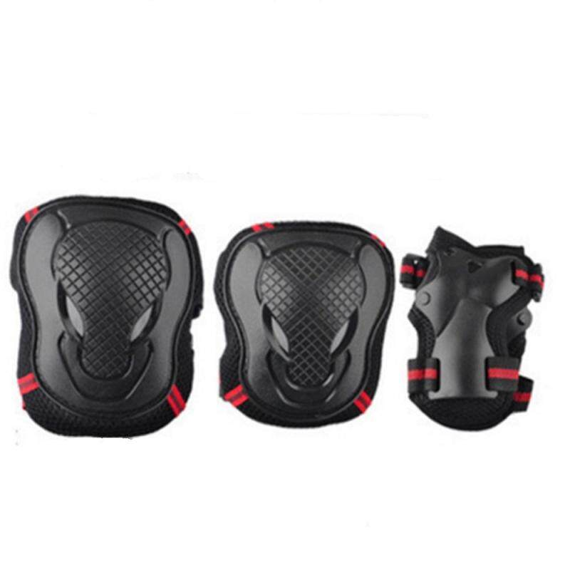 Safeguard Knee Elbow Wrist Support Pad Set Equipment for Adults Boys and Girls SIZE M