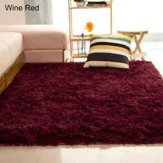 SanwoodR Home Living Room Bedroom Floor Carpet Mat Soft Anti Skid Rectangle Area Rug 4060cm Wine Red
