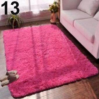 Harga Sanwood(R) Living Room Bedroom Home Anti-Skid Soft Shaggy Fluffy AreaRug Carpet Floor Mat (Rose)