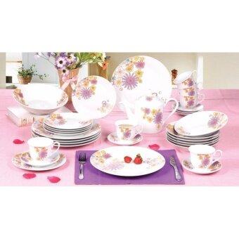 Satinni 33 pcs Sweet Spring Fine Porcelain Dinner Set SM 23-A96-33
