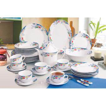 Harga Satinni 34 pcs Fine Porcelain Dinner Set SM 32-004-34