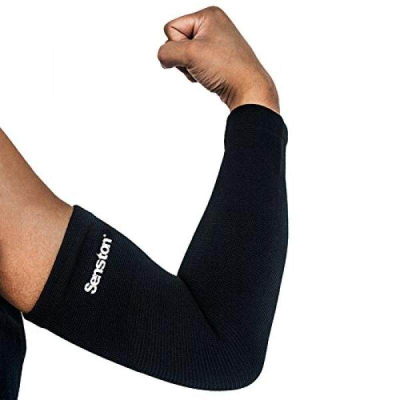 Buy Senston Recovery Compression Arm Sleeves Forearm Sleeve for Tendonitis,Lymphedemam,Arthritis,Workout,Weight Lifting,Basketball,Baseball,Volleyball,Running-Black M Malaysia