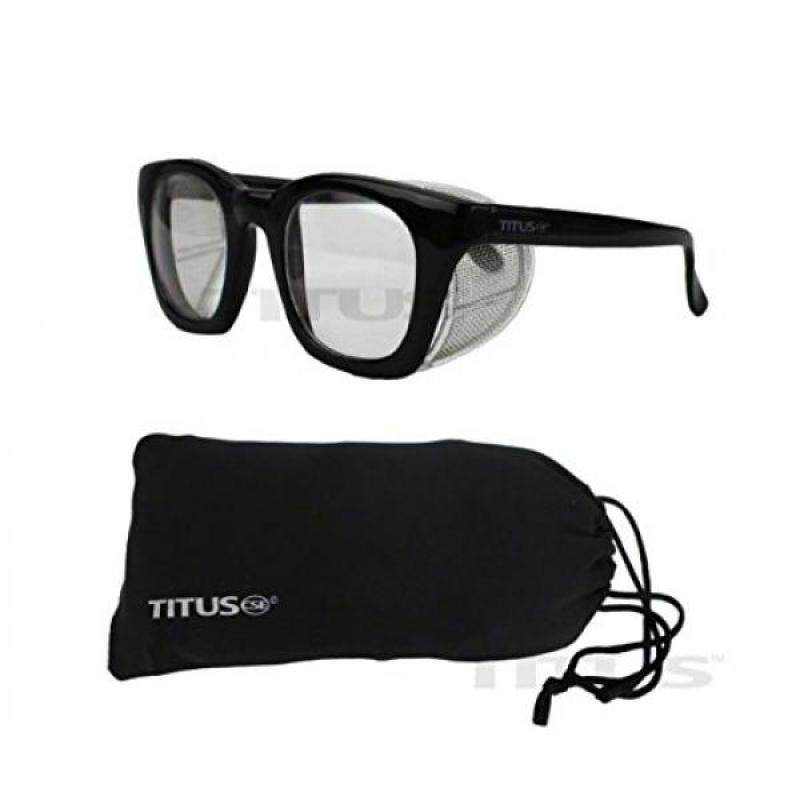 Buy [Seoul lamore]Titus G12 Retro Style Safety/Riding Glasses (With Pouch, Clear Lens - Gloss Frame) Malaysia