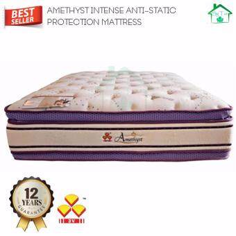 "SG TAN: 3V Amethyst 16"" KING Size Anti-Static Pocket Spring Mattress"