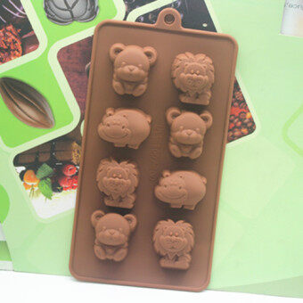 Harga Silicone cake mold chocolate handmade soap diy cold soap mold 8even the lion hippo animal