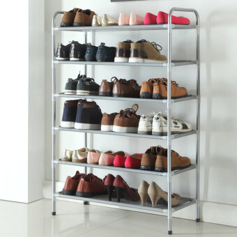 Harga Simple simple multi-function steel shoe rack