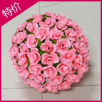 Harga Simulation flower ball rose flower ball silk flower lead the way flower ball with leaf flower ball wedding New Home Decorative flower ball