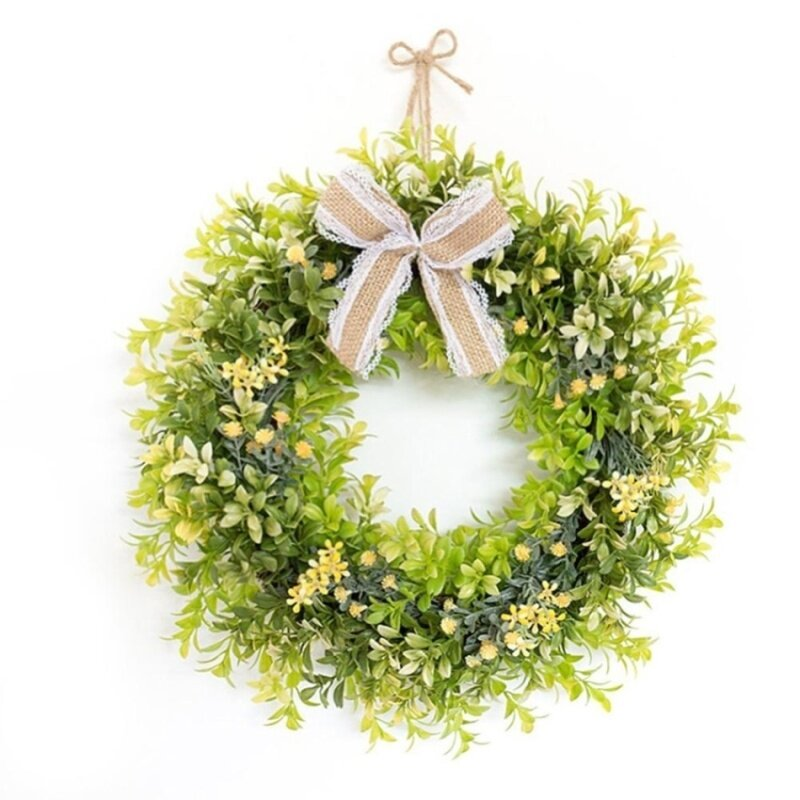 Buy Simulation of green leaves of small flowers wreath Malaysia