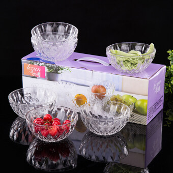 Six pieces set diamond salad promotional gift glass dishes