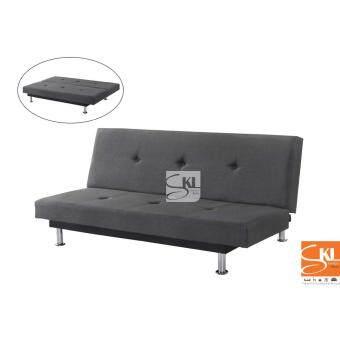 Harga SKL8008 Fabric Sofa Bed (Grey)