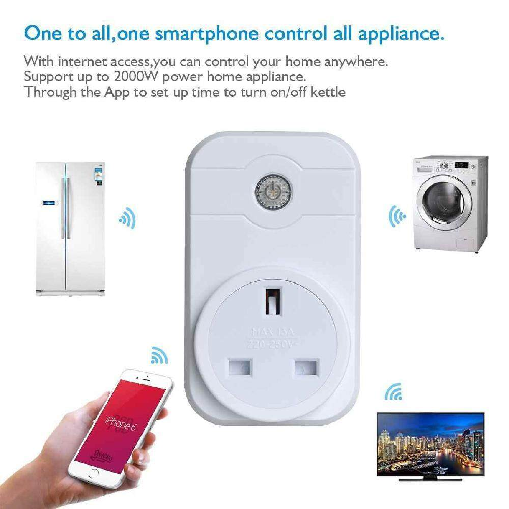 Buy Smart Home Automation Remote WiFi Plug Timer Switch Works With ...