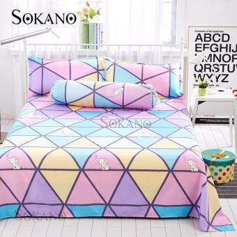 SOKANO SB011 4 in 1 Premium Bedsheet Set (Purple)