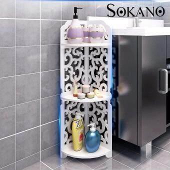 SOKANO WF004 European Style Water Resistant Wooden Corner Rack- White