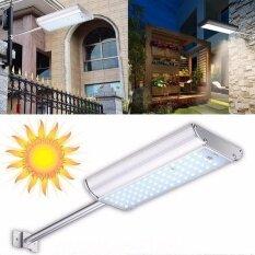 solar 70 led motion sensor remote light outdoor garden path street wall lamp waterproof