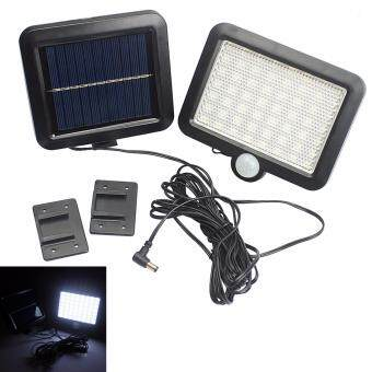 Harga Solar Power LED Garden Lawn Lights Outdoor PIR Human Sensor 56 LED Solar Motion Detection Wall Light