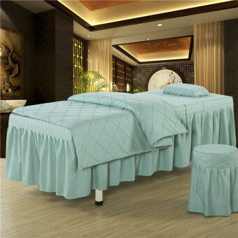 Solid color beauty bedspread four sets of beauty bed linen bed setsbeauty salon body massage bedspread made