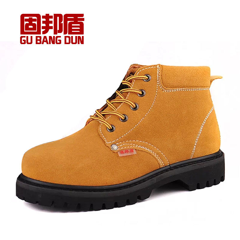 Buy Solid State shield tire bottom high-top safety shoes-High Temperature Anti-stab wear anti-smashing men wear and welding work safety shoes Leather Malaysia