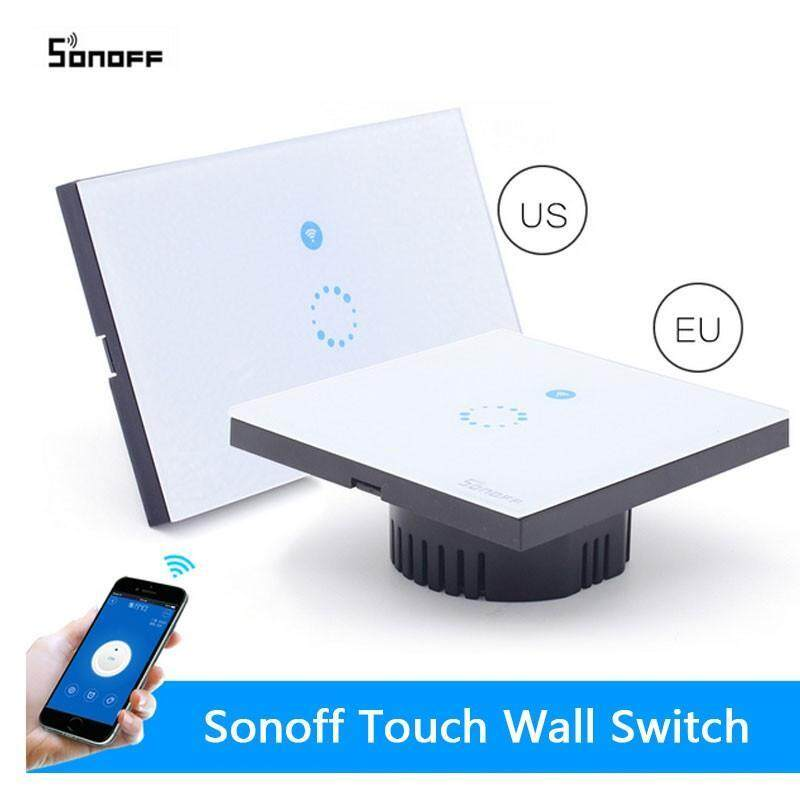 Buy Sonoff WIFI Wireless Light Switch Touch Glass Panel Touch LED Light controller Malaysia