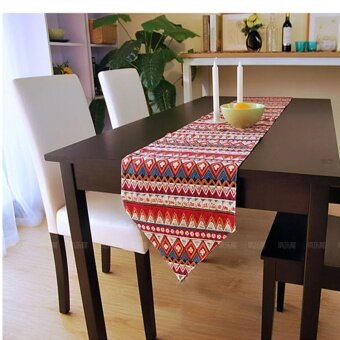 Harga Southeast Asian cotton linen table runner tablecloth home cloth Table Runner