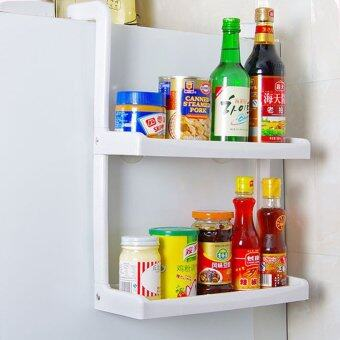 Space-saving 2-Tier Refrigerator Side Storage Rack Hanging Kitchen Shelves