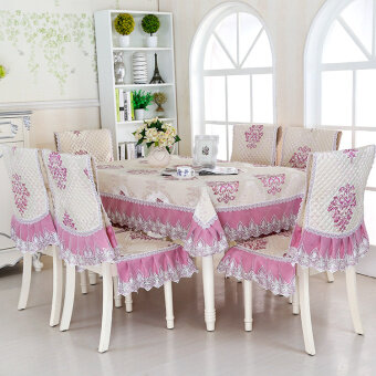 Special boutique in European dining chair mat suit chair packagetablecloth coffee table cloth table cover cushion sets suit