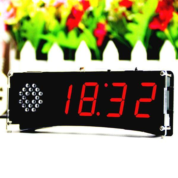 BEAUTIY CITY Speech version of digital electronic clock making parts 51 single-chip electronic clock DIY LED suite YD-030 Red - intl