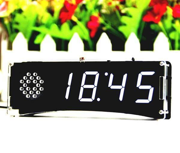 BEAUTIY CITY Speech version of digital electronic clock making parts 51 single-chip electronic clock DIY LED suite YD-030 White - intl