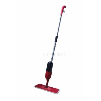 Harga Spray Mop with Microfiber Home Mop Red