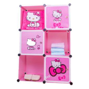 Harga Stackable Cube Storage (6 Cubes) - Hello Kitty