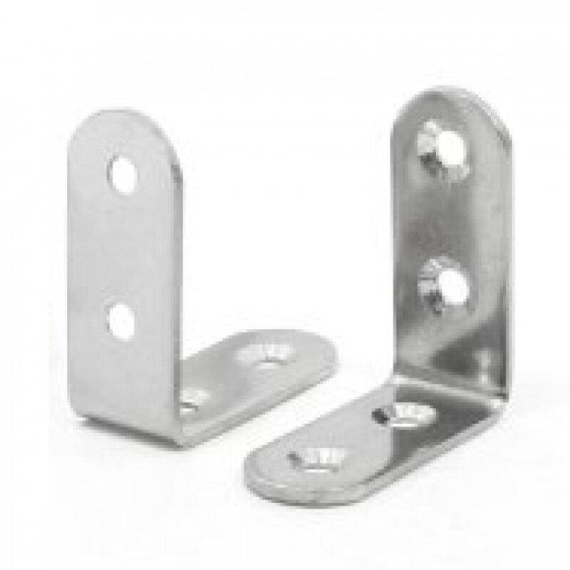 Stainless Steel L Bracket 63mm x 63mm - 4pcs c/w Screw