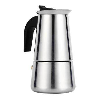 Harga Stainless Steel Percolator Moka Pot Espresso Coffee Maker Stove Home Office Use (100ml)