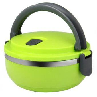 Stainless Steel Thermos Bento Lunch Box Food Container LunchboxPortable Hot-green