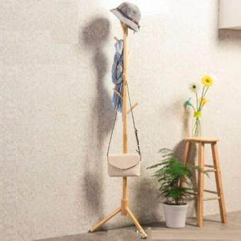 Standing Clothes hanger- Wooden- Natural color