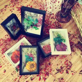 Stereo eternal life flower frame Yan paper frame specimens dimensional box Butterfly A4A3DIY nail jewelry display shell