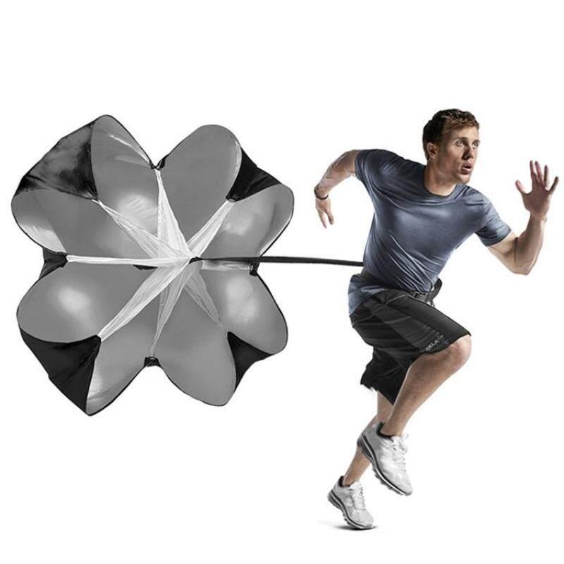 Buy Strength Training Fitness Umbrella Speed Drills Wind Air Resistance Strength Training Parachute Umbrella(Black) Malaysia