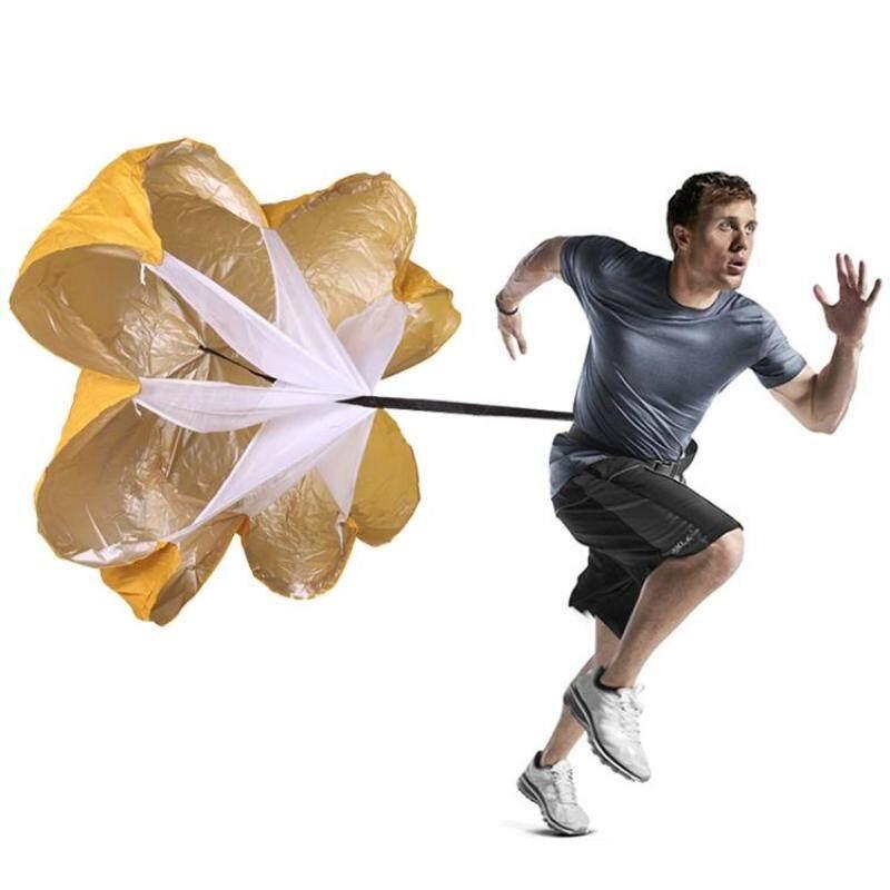 Buy Strength Training Fitness Umbrella Speed Drills Wind Air Resistance Strength Training Parachute Umbrella(Yellow) Malaysia