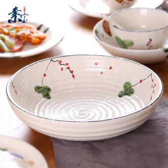 Su Bao p037 ceramic large Japanese-style porcelain pot soup bowl soup pots