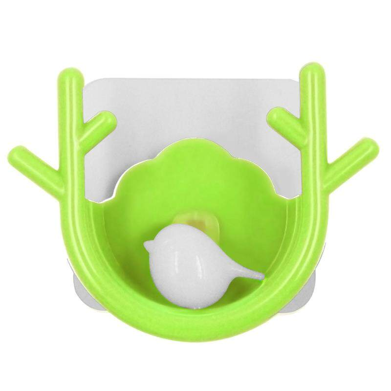 Super Powerful Suction Cup Hook Holder Organizer for Towel Bathrobe Loofah Cartoon Branch Shape Green
