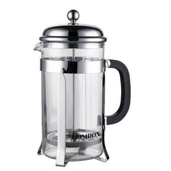 Harga Supercart Homdox 1000ml/ 8 Cups French Press Coffee Tea & Espresso Maker with Heat Resistant Glass and Stainless Plunger (Silver)