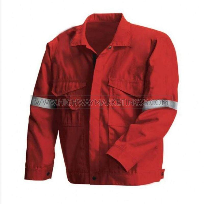 Supersonic Safety Reflective Workwear Jacket Red Size M