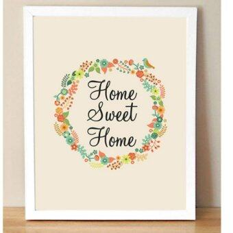 Harga Sweet Home Quote With Flowers Wall Art Print Poster, Wall PicturesFor Home Decoration, Frame Not Include Canvas Art FA238-4