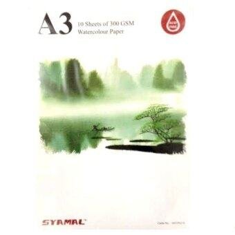 Harga Syamal A3 Watercolor Paper Pad 10 Sheets 300gsm (WCPA310)